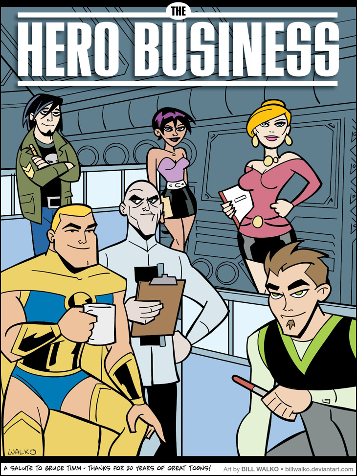 Hero Business, Bruce Timm Style!